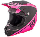 FLY RACING F2 CARBON REWIRE MATTE NEON PINK/BLACK Carbon Fiber Snell MX OFFROAD
