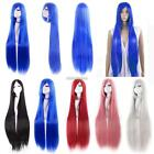 100cm Long Straight Cosplay Party Women Anime Hair Full Wig 5 Colors N98B