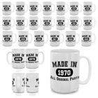 MUGBREW MADE IN 1950 - 1970 ALL ORIGINAL PARTS MUG Birthday Gift Ceramic 15 OZ
