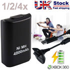 1-4X XBOX 360 PLAY AND CHARGE KIT 4800mAH RECHARGEABLE BATTERY PACK & CABLE LEAD