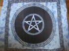Pentacle Blue / Purple bedspread throw FairTrade Pagan Wiccan altar Protection