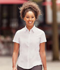 Russell Collection Ladies Short Sleeve Ultimate Stretch Shirt Cotton Rich Fitted