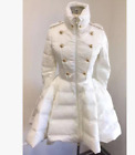 Womens Light Down Double Breasted Stand Collars Parka A Line Dress Slim Coat A86