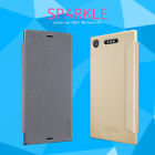 For Sony Xperia XZ1 /Compact Nillkin Sparkle Flip Thin PU Leather Case Cover