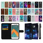 For HTC 10 One M10 Design Ultra Slim Canvas Wallet Case Cover + Pen