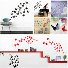 36Pcs 3D DIY Removable 3D Butterfly Art Dream Wall Stickers Decal Xmas Decor