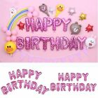 16&quot; Foil Happy Birthday Balloon 13 Letters Shape Banner Bunting Party Decoration <br/> ✔USPS First Class Post✔String Straw Included✔13 Letters