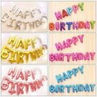 13Pcs HAPPY BIRTHDAY Letters Shaped 16 Foil Balloons Banner Party Decoration