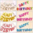 """16"""" Large """"HAPPY BIRTHDAY"""" 13Pcs English Letters Foil Balloons Party Decoration"""