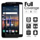 BLACK FULL TEMPERED GLASS PHONE SCREEN PROTECTOR GUARD FOR [LG STYLO 3 (2017)]