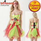 K437 Ladies Raphael Ninja Turtle TMNT Corset Tutu Pettiskirt Dress Up Costume