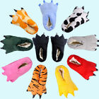 Adults Kids Unisex Cosplay Plush Slippers Monster Animal Paw Warm Indoor Shoes