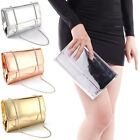 Designer Mirror Metallic Women Clutch Bridal Prom Gift Ladies Patent Evening Bag