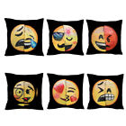 "16"" Emoji Mermaid Pillow Case Reversible Sequin Glitter Sofa Cushion Cover YG"