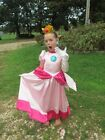 Modest Quality Halloween Costumes Mario Brothers ~Princess Peach~Child Size 2-14