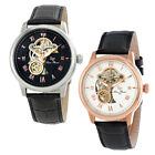 Lucien Piccard Optima Open Heart Automatic Mens Watch - Choose color