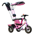 4 IN 1 BABY KIDS TRICYCLE PUSH BIKE BUGGY STROLLER 3 WHEELS WITH PARENTAL HANDLE
