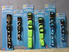 NEW! Greenbriar GREEN BLACK TEAL BONES DOG COLLAR Easy Click Clasp - L M S