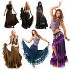 Long Gypsy Boho Skirt, Hippy Lace Bohemian Wraparound Skirt, Doof Goa Fashion