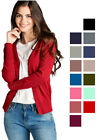 Women's Cardigan Long Sleeve Open Front Sweater V-Neck w/ Buttons on Sleeves