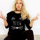 Women Cat Printed Hoodie Sweatshirt Pullover Casual Sports Blouse Jumper New YG