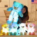 Small LED Flash Teddy Bear Stuffed Animals Plush Soft Hug Toy Baby Kids Xmas
