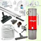 Allegro Central Vacuum 35' Hose Air KIT 80' Pipe 3 Inlet Installation SUPERKIT!!