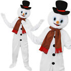 ADULTS SNOWMAN MASCOT COSTUME PLUSH BIG HEAD FANCY DRESS ALL IN ONE JUMP SUIT