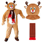 ADULTS REINDEER CHRISTMAS RUDOLPH MASCOT PLUSH QUALITY BIG HEAD FANCY DRESS