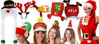 10 PACK CHRISTMAS HATS WORK OFFICE XMAS PARTY ADULTS FUNNY NOVELTY FANCY DRESS