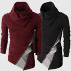 Irregular Knitted Sweater Slim Fit Jumper Pullover Blouse Tops Shirt Mens O1353