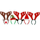 CHRISTMAS HEADBANDS FESTIVE HATS XMAS FANCY DRESS REINDEER ANTLERS ELF SANTA