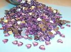 50 Pink Acrylic Hearts Embellishments Wedding Invites Cards Favours Craft