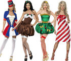 WOMENS SEXY CHRISTMAS FANCY DRESS COSTUMES LADIES FESTIVE XMAS PARTY OUTFIT
