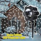 Snow Falling LED Projector Night Light Christmas Snowflakes Party Xmax Decor Hot