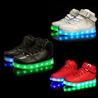 Kids Unisex Fashion Casual LED Luminous Light up Shoes Sportswear Sneakers New