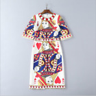 2018 New Occident fashion Printed hammer bead set auger sequined hot dress SMLXL