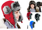 Children Kids Boys Girls Trapper Hat Russian Cossack Sherpa Warm Winter Snow Ski