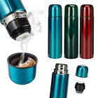 Stainless Steel Flask 500ML Thermos Hot Vacuum Bottle Push Button Lid Insulated