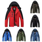 Winter Men Boys 2 in1 Hooded windproof Warm Coat Hiking& Ski Jacket Top Outdoor