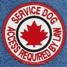 """SEW ON MAPLE LEAF SERVICE DOG ACCESS REQUIRED BY PAW PATCH 3"""" Danny & LuAnns"""