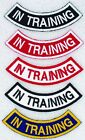 1 IN TRAINING ROCKER PATCH service dog Danny & LuAnns Embroidery