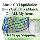 Tolerant of Music CD Liquidation Sale ** Artists: S-S #426 ** Buy 1 Get 1 flat ship fee