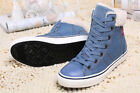womens winter boots sale - HOT SALE Womens Winter Snow Ankle Boots Denim Jeans Canvas Casual High Top Shoes
