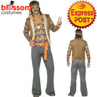 CA494 Mens Hippie Singer 1960s Costume Hippy 60s 70s Groovy Retro Groovy Outfit