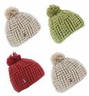 Knitted Bobble Pom Beanie In Oatmeal, Red or Lime 83845 Made In Italy