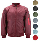 Mens Premium Multi Pocket Water Resistant Padded Zip Up Flight Bomber Jacket