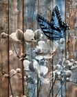 Rustic Butterfly Wall Decor, Brown Blue Rustic Home Decor Wall Art Picture