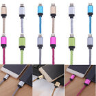 10FT Braided Nylon USB Data Sync Charger Cable Cord For iPhone 7 6 6S Plus 5S