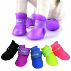 Cute 4pcs/Lot Pet Boots Dog Rain Waterproof Boot Shoes Anti-slip Rubber Shoes